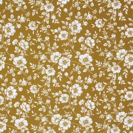Mustard flower print.