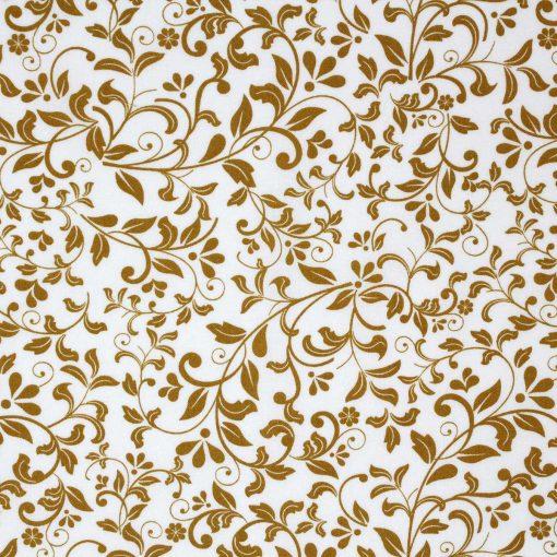 Mustard yellow leaf fabric.