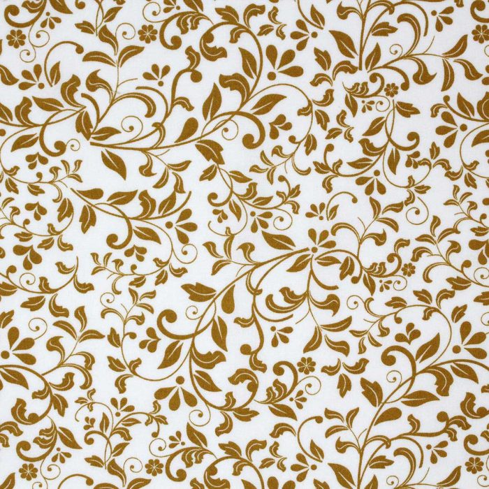 Mustard yellow leaf fabric.