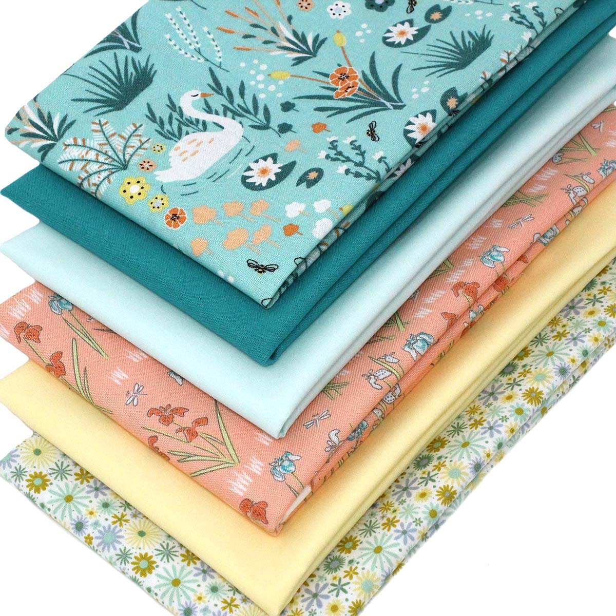 Green Solid Fat Quarters Fabric Bundles Pre-Cut Quilting Fabric for Sewing Crafting,18x22