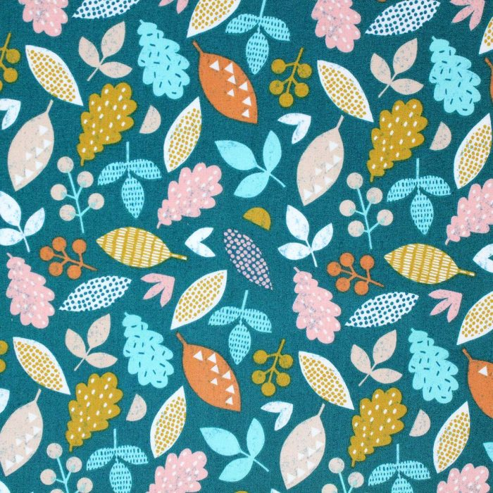 Printed leaf fabric by Dashwood Studios.