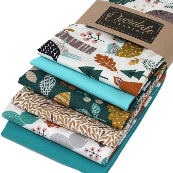 Wild forest fat quarter pack by Overdale Fabrics.