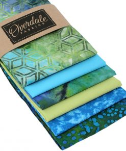 Fat quarter pack in blues and greens.