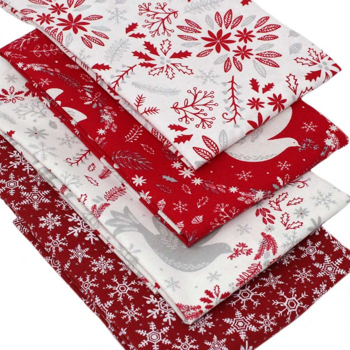 Christmas fat quarter pack featuring doves.