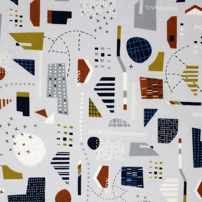 Abstract landscape printed fabric by dashwood studios