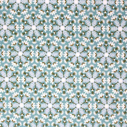 Snowflake fabric.
