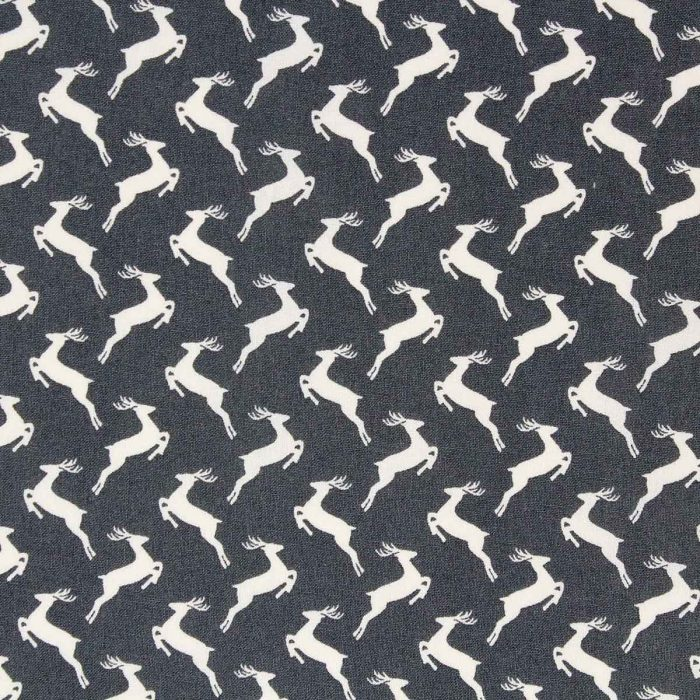 Scandi grey reindeer fat quarter.