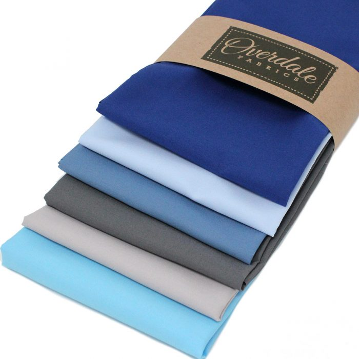 Blue and grey fat quarter pack.