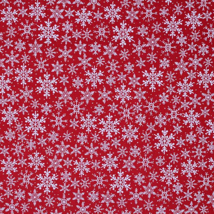 Red snowflake fabric.