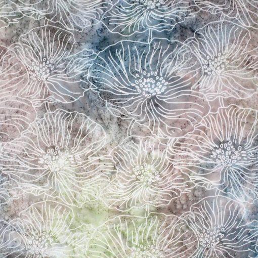 earthy batik flowers