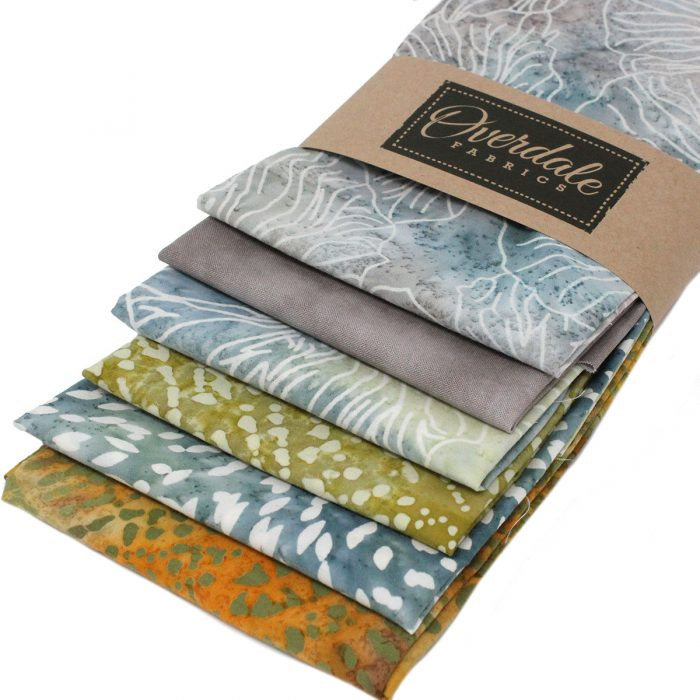 Batik fat quarter pack in natural shades.