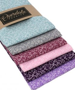 Ditz floral fat quarter pack in pinks and purples.
