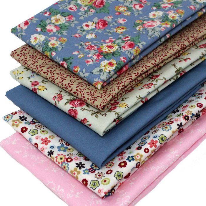 A set of vintage style fat quarters featuring roses.