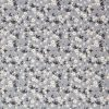 Small flower fabric in shades of grey.