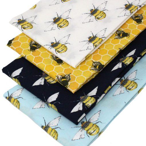 Bee fat quarter fabrics.