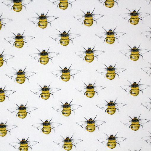 White bee fabric.