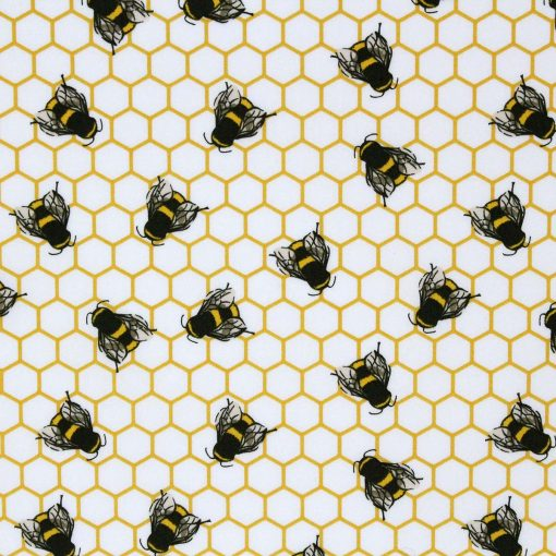 Honeycomb and bee fabric.