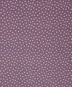Small stars on a mauve fabric.