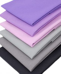 fat quarters in grey, pink and lavender