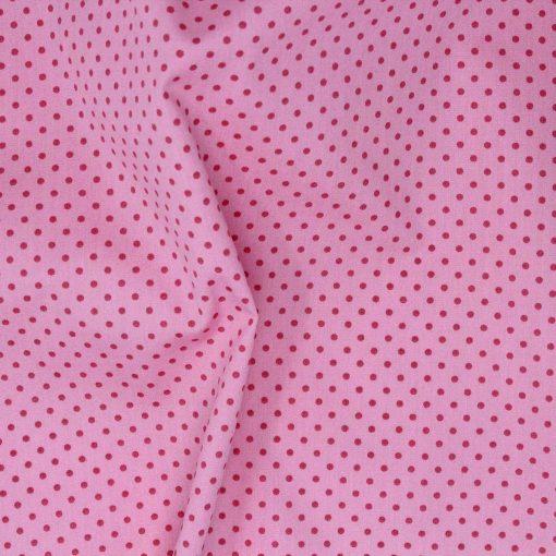 Pink polka dot fabric.