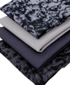 fat quarters in shades of black and grey