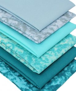 fat quarter bundle in blue and green
