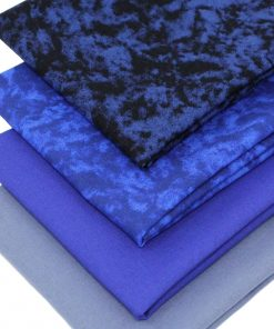 Blue fat quarter fabrics.