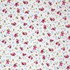 Vintage rose printed fabric.