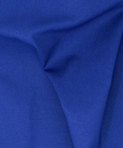 Plain solid royal blue fabric.