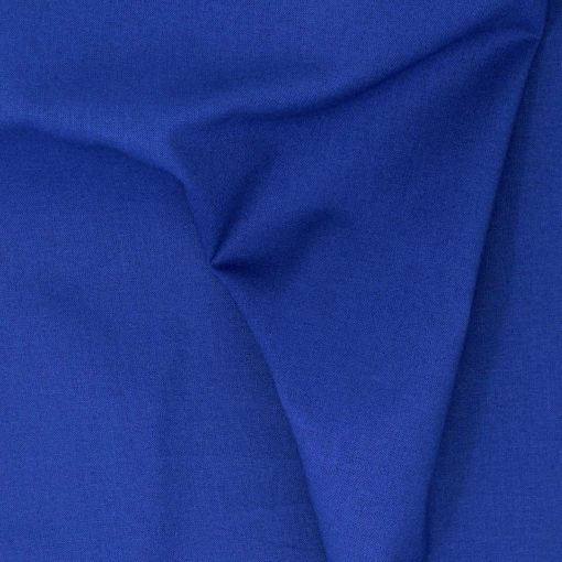 Plain solid royal blue fabric.