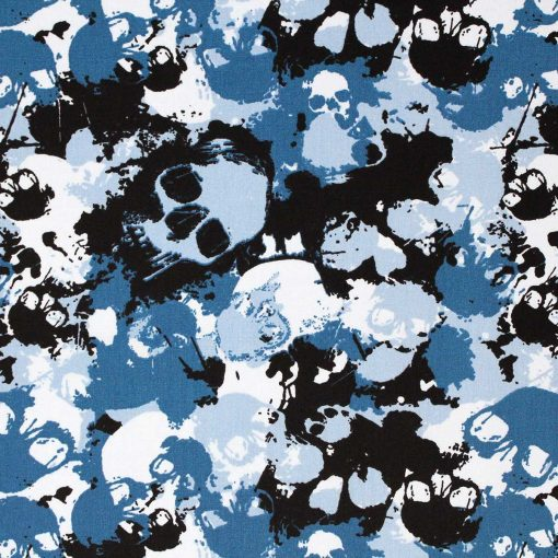 Blue skull fabric.