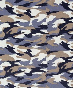 Camouflage fabric in brown.