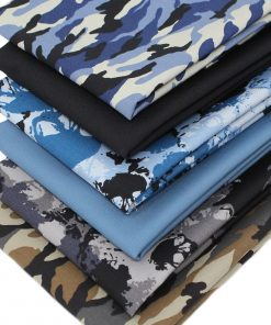 Fat quarter fabric collection featuring camouflage and skulls.