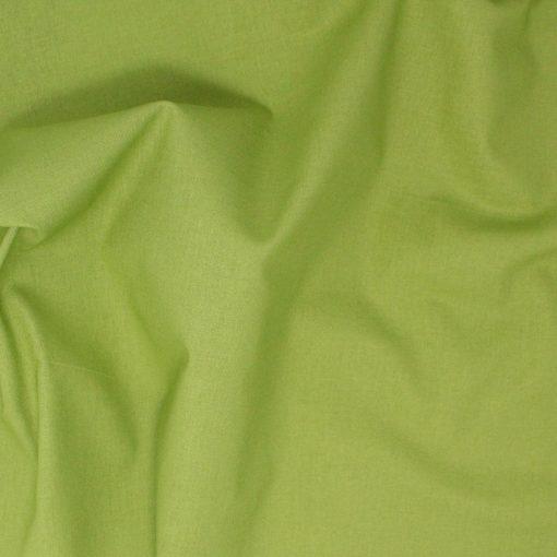 Green plain solid fabric.