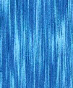 Blue linear fabric.
