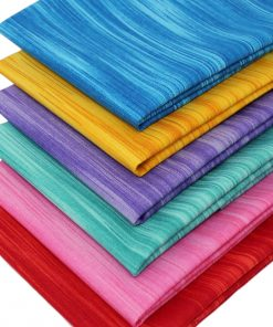 Fat quarter fabrics in jewel colours featuring a linear design.