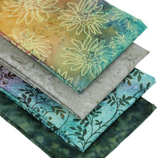 Batiks in earthy colours.