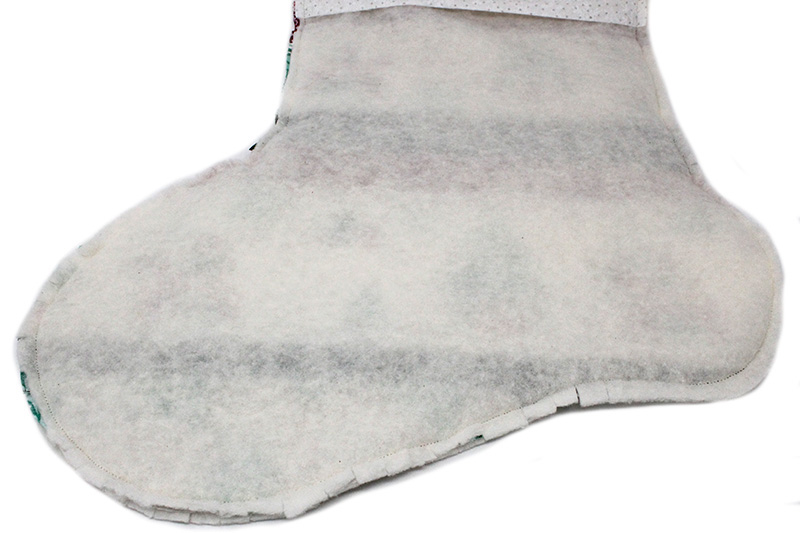 Christmas stocking tutorial - clipping seam allowance around the curves of the foot