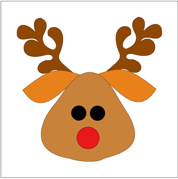 rudolph the red nose reindeer applique design