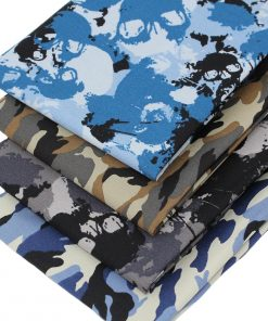 Skull and camouflage fabrics
