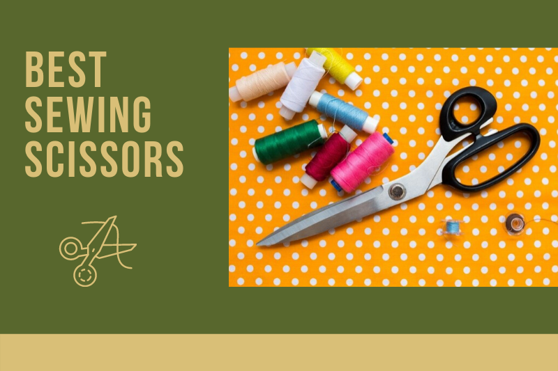 best sewing scissors header, showing scissors and sewing thread
