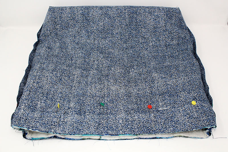 blue lining fabric