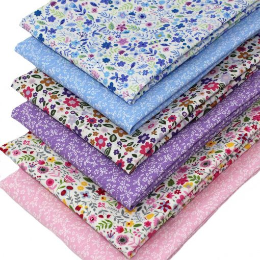 Small scale floral fabric designs.
