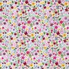 Miniature floral fabric in pink.