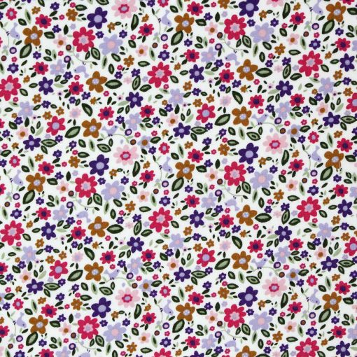Small scale floral fabric in lilac and purple