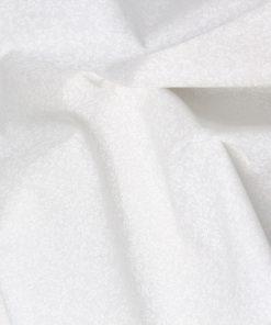 Small scale white daisy design on a white cotton background.