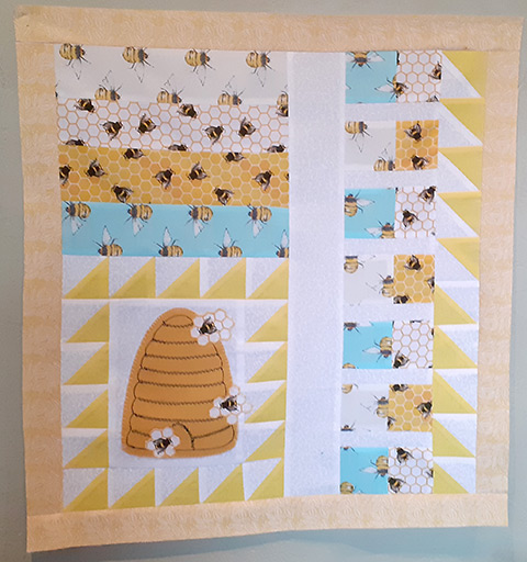 Bee themed quilt project