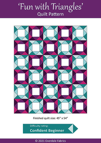 free quilt pattern cover - fun with triangles