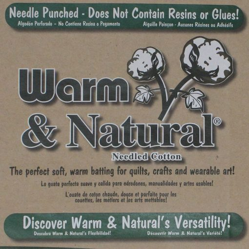 Warm and Natural wadding label