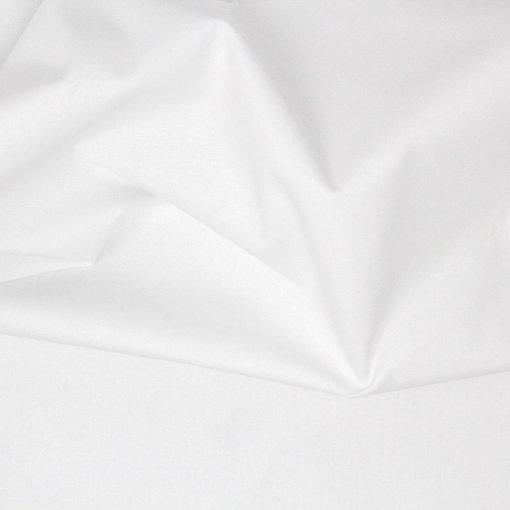 Pure white crafting and quilting cotton fabric.